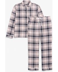 Monki - Soft Flannel Pj - Lyst