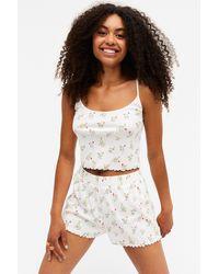 Monki Matching Pyjama Set - White