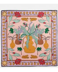 Monki Satin Scarf - Pink