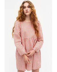 Monki Mini Smock Dress - Red