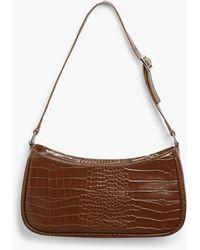 Monki Small Hand Bag - Brown
