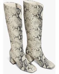 Monki - Knee-high Faux Leather Boots - Lyst