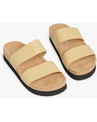 Monki Flat Cork Sandals - Multicolour
