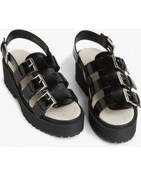 Monki - Platform Slingback Sandals - Lyst