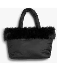 Monki Puffer Bag - Black