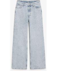 Monki Yoko Jeans Light Blue