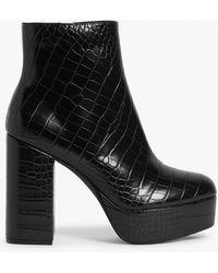 Monki Platform Heel Boots - Black