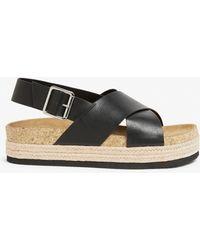 Monki Slingback Platform Sandals - Black