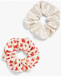 Monki Pack Of Two Scrunchies - Multicolour