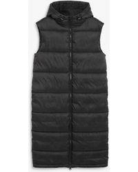 Monki Maxi Vest Puffer - Black