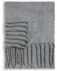 Monki Oversized Tassel Scarf - Gray