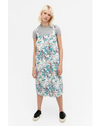 Monki Denim Dungaree Dress - Blue