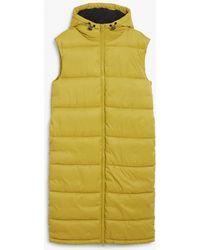 Monki Maxi Vest Puffer - Yellow