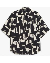 Monki Short-sleeve Shirt - Black