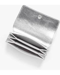 Monki Faux Leather Card Case - Metallic