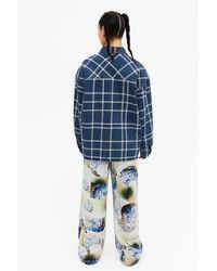 Monki Oversized Denim Jacket - Blue