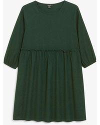 Monki Volant-minikleid - Grün