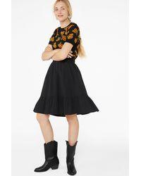 Monki Ruffle Hem Skirt - Black