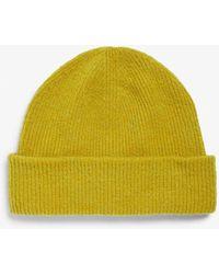 Monki Wool Blend Beanie - Yellow