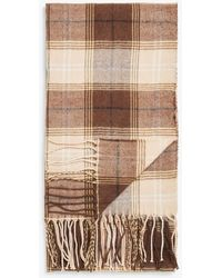 Monki Lightweight Tassel Scarf - Natural