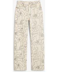 Monki Taiki jeans mit geradem bein - Natur