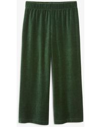 Monki Stretchy Corduroy Trousers - Green
