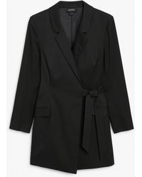 Monki Blazer Dress - Black