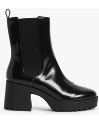 Monki - Faux Leather Ankle Boots - Lyst