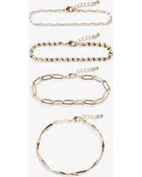 Monki Assorted Bracelets - Metallic
