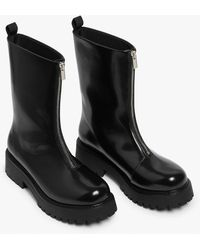 Monki Chunky Zip Boots - Black