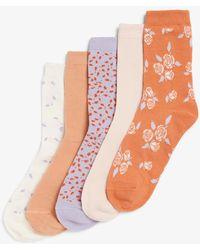 Monki 5Er-Pack -Socken - Orange
