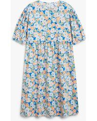 Monki Seersucker Maxi Dress - Blue