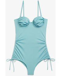 Monki Badeanzug mit bügel - Blau