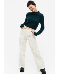 Monki Yoko Corduroy Pants - White