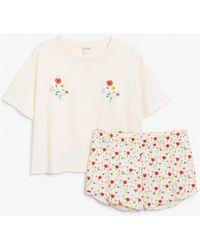 Monki Pyjama Set - White