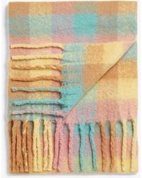 Monki Recycled Polyester Tassel Scarf - Pink