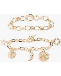 Monki 2-pack Bracelets - Metallic