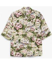 Monki Oversized Button-up Blouse - Multicolour
