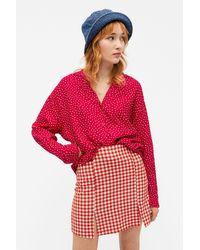 Monki Relaxed Lightweight Shirt - Red