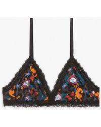 Monki Soft Triangle Bra - Multicolour