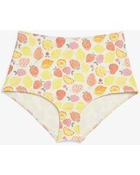Monki High-waisted Bikini Briefs - Yellow