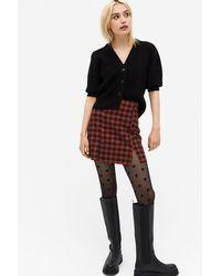 Monki Fitted Mini Skirt - Red