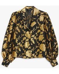 Monki Sheer Blouse Shirt - Black