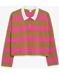 Monki - Cropped Rugby Top - Lyst