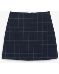 Monki A-line Mini Skirt - Blue
