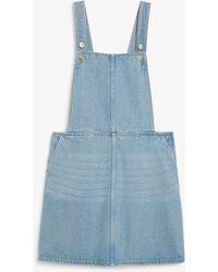 Monki Denim Dungaree Dress - Blue