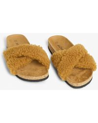 fd633e03a New Look Off White Fluffy Llama Slippers in White - Lyst