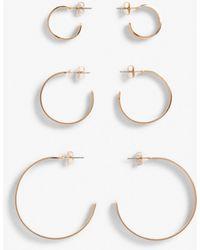 Monki Hoop Earrings - Metallic