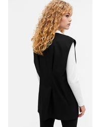 Monki Oversized Tailored Vest - Black