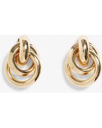 Monki Knot Statement Studs - Metallic